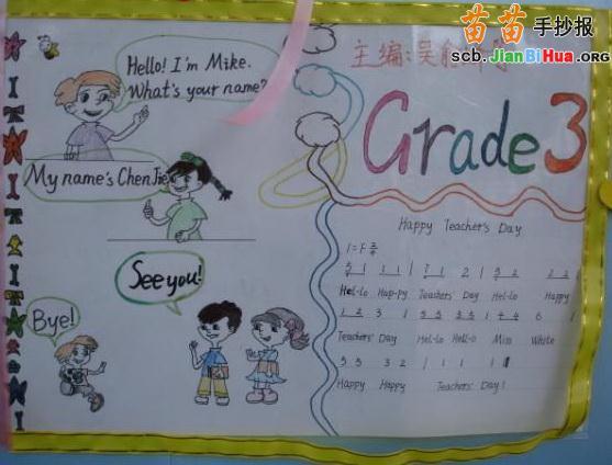 小学英语语音手抄报