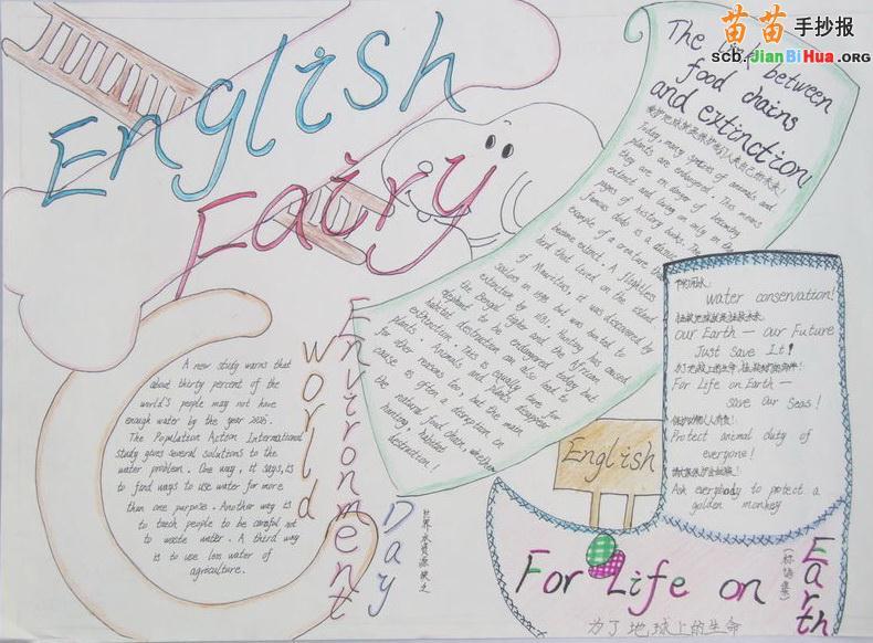 小學生英語手抄報語文初中中內容銜接升高圖片