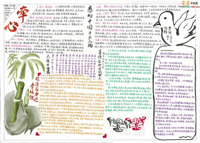 感动中国人物手抄报设计图