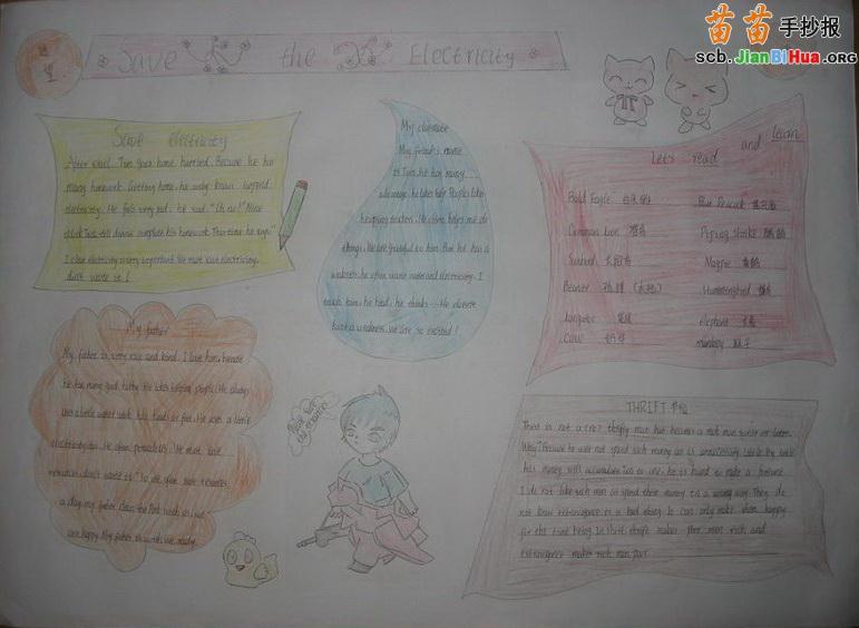 手抄初中报英语_英语手抄报怎么画和写