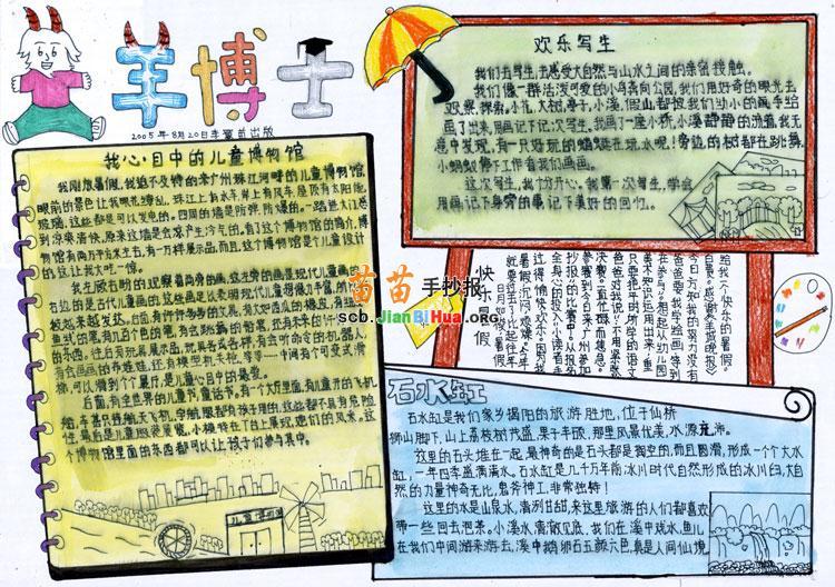 儿童博物馆手抄报设计图图片