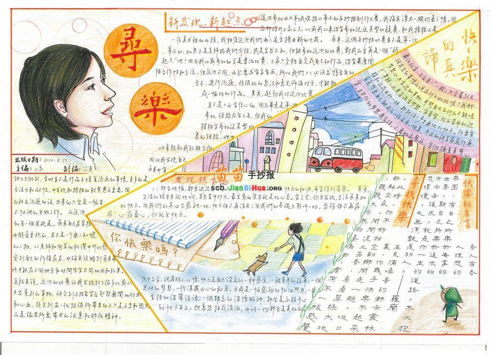 快乐学习手抄报设计图