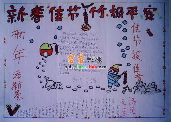 关于春节习俗的手抄报内容关于春节习俗的手抄报