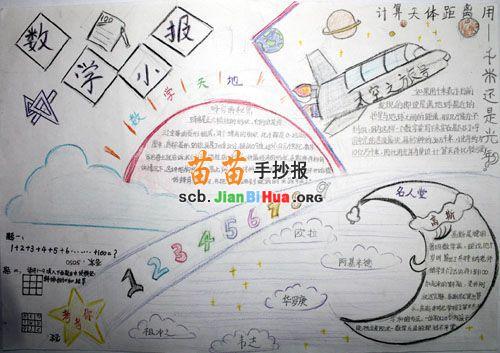 计算天体距离数学手抄报