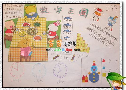 六年级数学王国手抄报