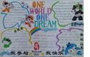 奥运会英语手抄报版面设计图