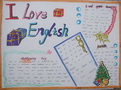 我爱英语手抄报图片