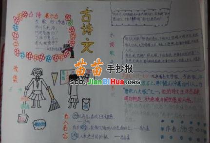 古诗文手抄报图片