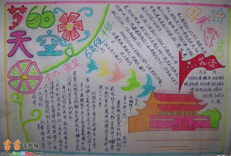 关于中国梦的手抄报
