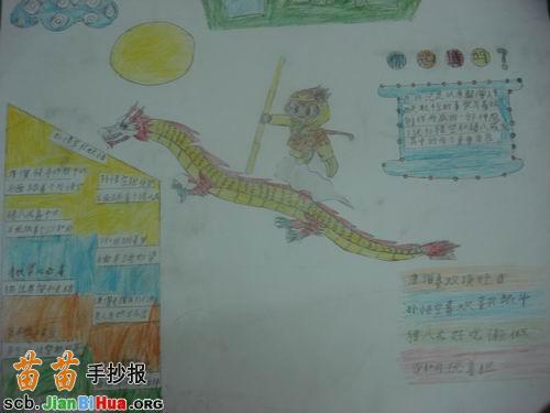 小学童话手抄报图片_关于龙的童话手抄报