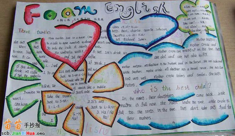 三年级英语手抄报图片
