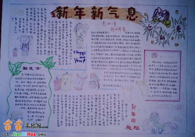 关于春节的手抄报图片_关于春节的手抄报大全图片