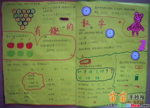 三年级有趣的数学手抄报图片