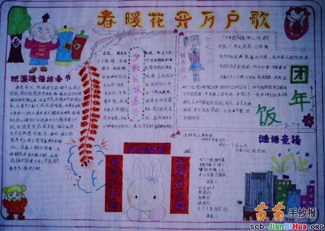 手抄报关于春节图片