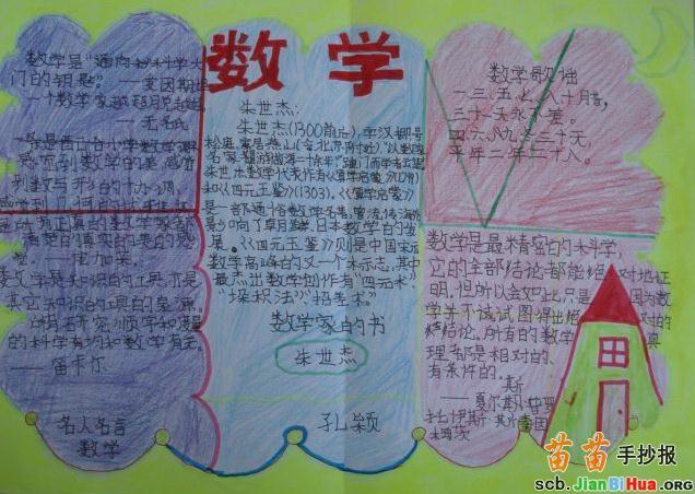 幼儿园数学手抄报内容