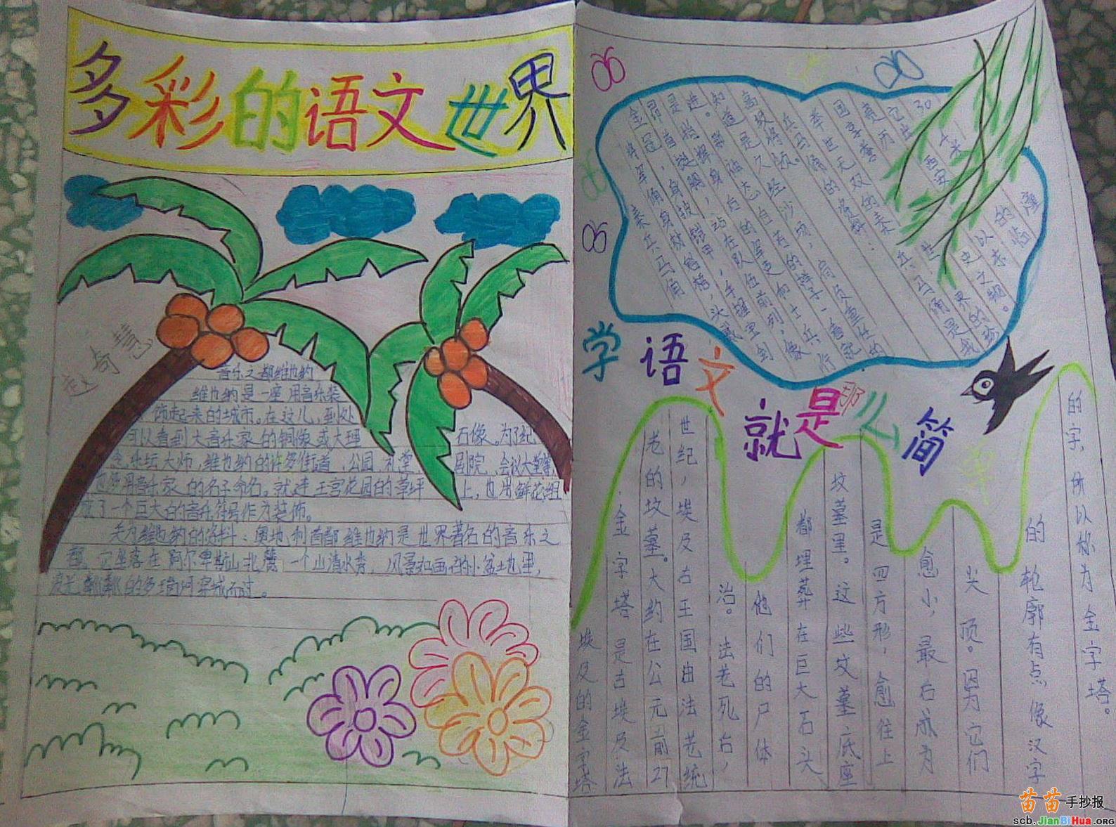 六年级语文手抄报资料图片